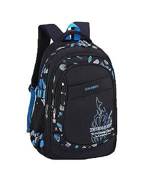 Cieovo Fashion niñas/niños mochila multifuncional mochila escolar mochila para adolescentes bolso para el colegio Outdoor tiempo libre Daypack Blau Flamme: ...