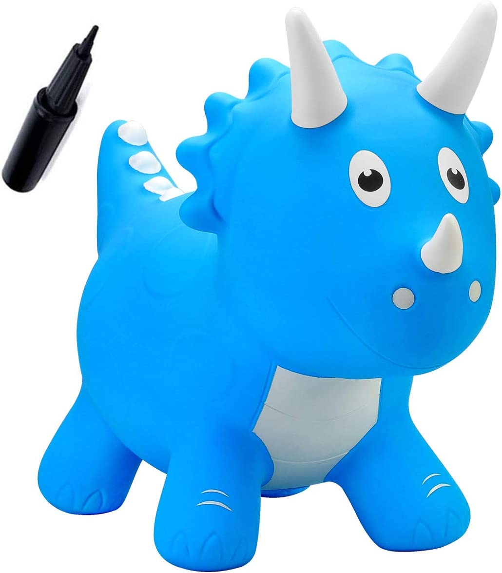 wide range skate shoes detailing EVERICH TOY Bouncy Horse with Pump-Stable Bouncy Animals for Baby-Jumping  Animals Dinosaur Hopper Toys for Toddlers-Great Gift (Sky Blue Triceratops)