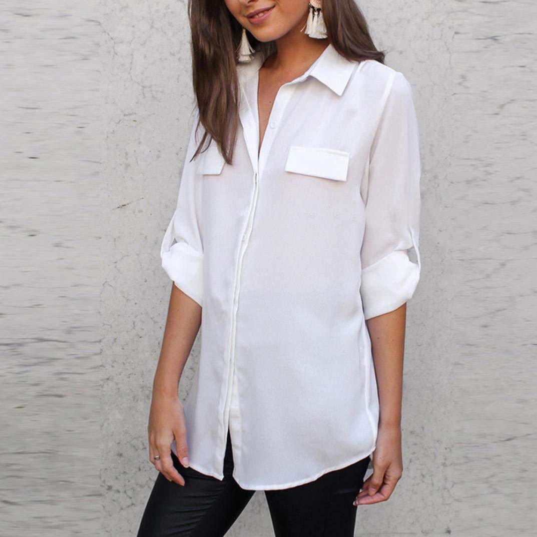 fb97dcb3809d ... con Righe da Donna Banda Camicia Prime Eleganti Taglie Comode  Particolari Cotone Lino Corte Lunghi Elegante Casual Divertenti  Amazon.it   Abbigliamento