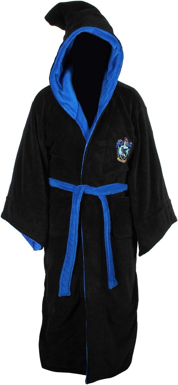 Harry Potter Ravenclaw Adult Fleece Hooded Bathrobe (One Size): Clothing