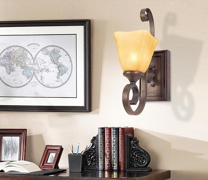 Amazon.com: Avanthika - Lámpara de pared con espejo de ...