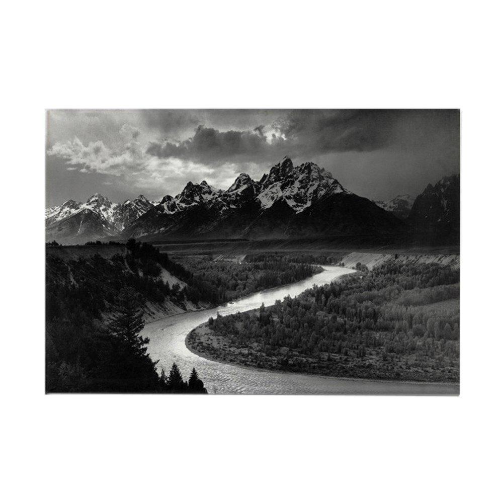 CafePress – Ansel Adams The Tetons and the Snake Riverマグネット – 長方形マグネット、2