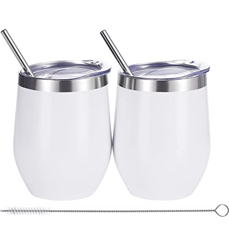 Amazon.com: Skylety - Vaso de vino con doble aislamiento de ...