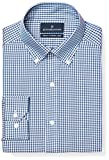 Buttoned Down Mens Tailored Fit Pattern Non-Iron Dress Shirt