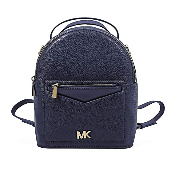 c13ffab02e1f Michael Kors Jessa Small Pebbled Leather Convertible Backpack- Admiral   Amazon.co.uk  Clothing