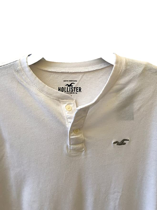 Hollister - Polo - Manga Larga - para Hombre Blanco Gris Large ...