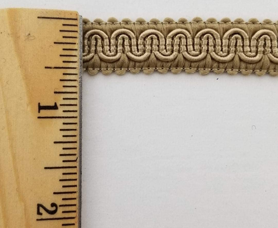 1//2 Scroll Braid Gimp w//Backing 12 Continuous Yards Many Color Options! Red