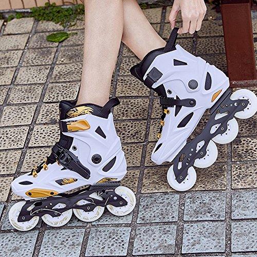 DIDIDD e a Uomo Scarpe a 39 Skate Rotelle Di Sporchi Adulti per Donna Lusso Rotelle Pattini Pattini per Carbon Platino Adulti Pattini rF4qwgrO