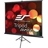 Elite Screens Tripod Series, 120-INCH 4:3, Adjustable Multi Aspect Ratio Portable Indoor Outdoor Projector Screen, 8K / 4K Ultra HD 3D Ready, 2-YEAR WARRANTY, T120UWV1