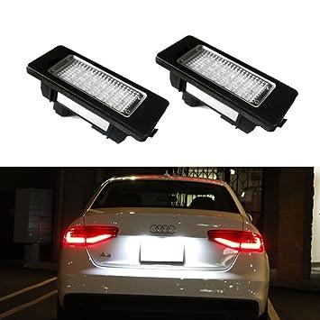 dlll 1 par blanco 24 LED 3528 SMD Número Placa de Licencia Luces Lámpara Bombilla para