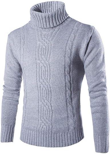 Jerseys de algodón para Hombre, suéter de Jacquard de Solapa ...