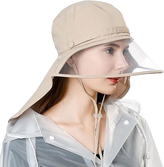 SiggiHat SIGGI rollbarer Regenhut Damen Wasserdicht Accessoires mit Nackenschutz