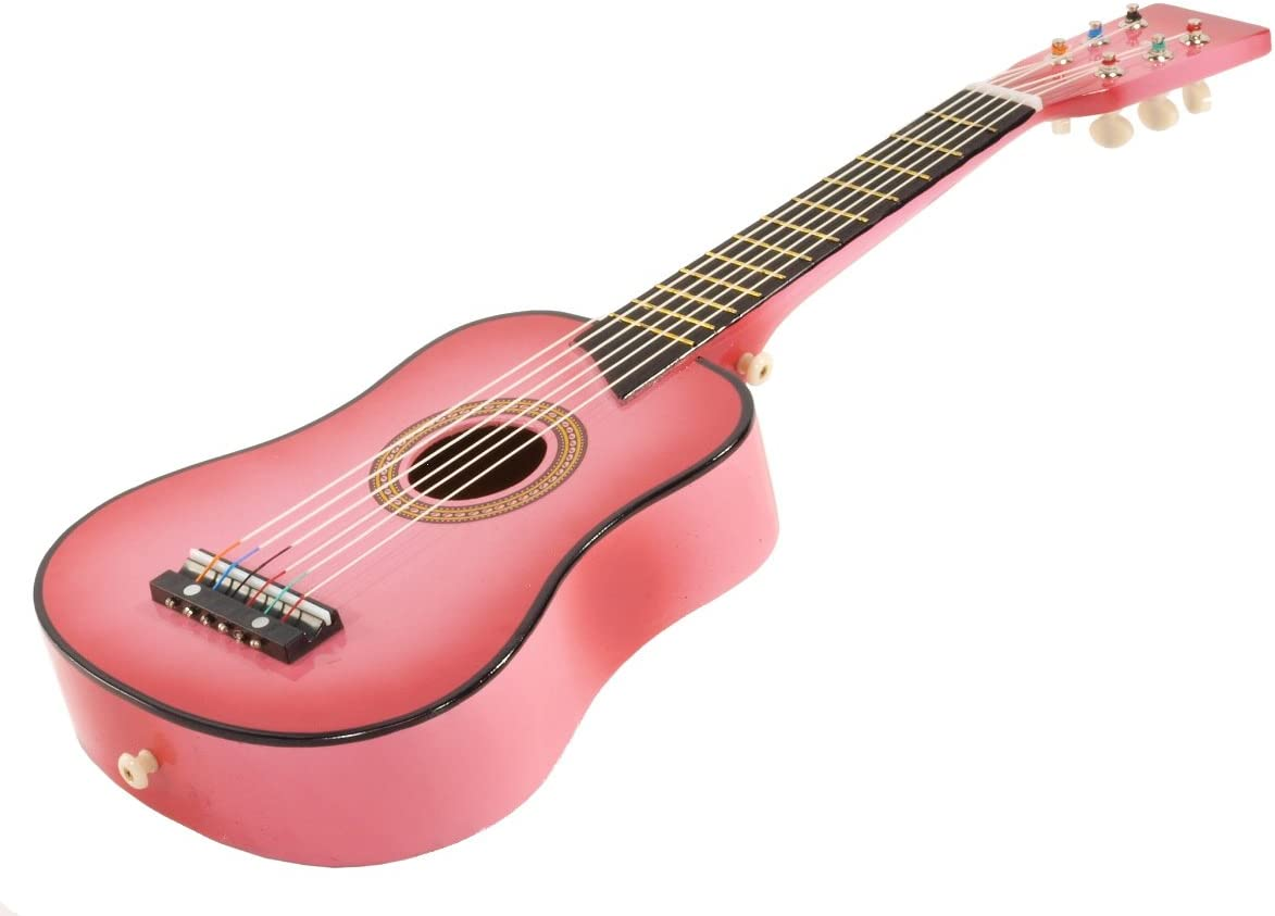 "23/"" Children Kids Wooden Acoustic Pink Guitar Musical Instrument Gift For Kids"