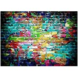 ANVOT Photography Backdrop, 7x5 ft Colorful Brick Wall Backdrop For Studio Props Photo Backdrop