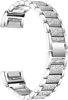 Charge 2 Metal Band,Adjustable Replacement Band Bracelet Strap Belt for Fitbit Charge 2 Large,Small (Silver) VIWO