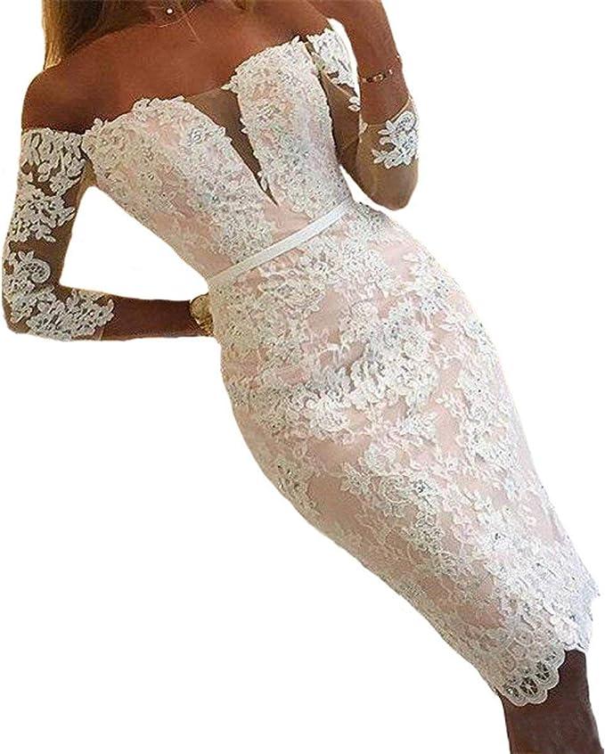 Hochzeitskleid kurz spitze ärmel