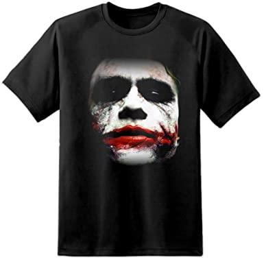 40cdbb38 Heath Ledger - Joker Face Batman/Dark Knight T Shirt (S-3XL) SUICIDE SQUAD  BATMAN SUPERMAN SPIDERMAN AVENGERS: Amazon.co.uk: Clothing