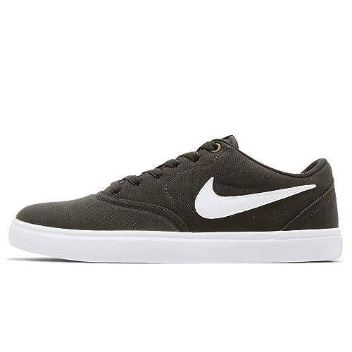7ec423bfa9a Nike Men s SB Check Solar CNVS White-Peat Moss-Black Canvas Sneakers ...