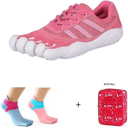 YANMUZI Zapatos Descalzos Unisex Punta Ancha Minimalista Trail Running Zapatos Descalzos Deportes Al Aire Libre Zapatos De Cinco Dedos Zapatos Descalzos con Calcetines,A-37: Amazon.es: Hogar
