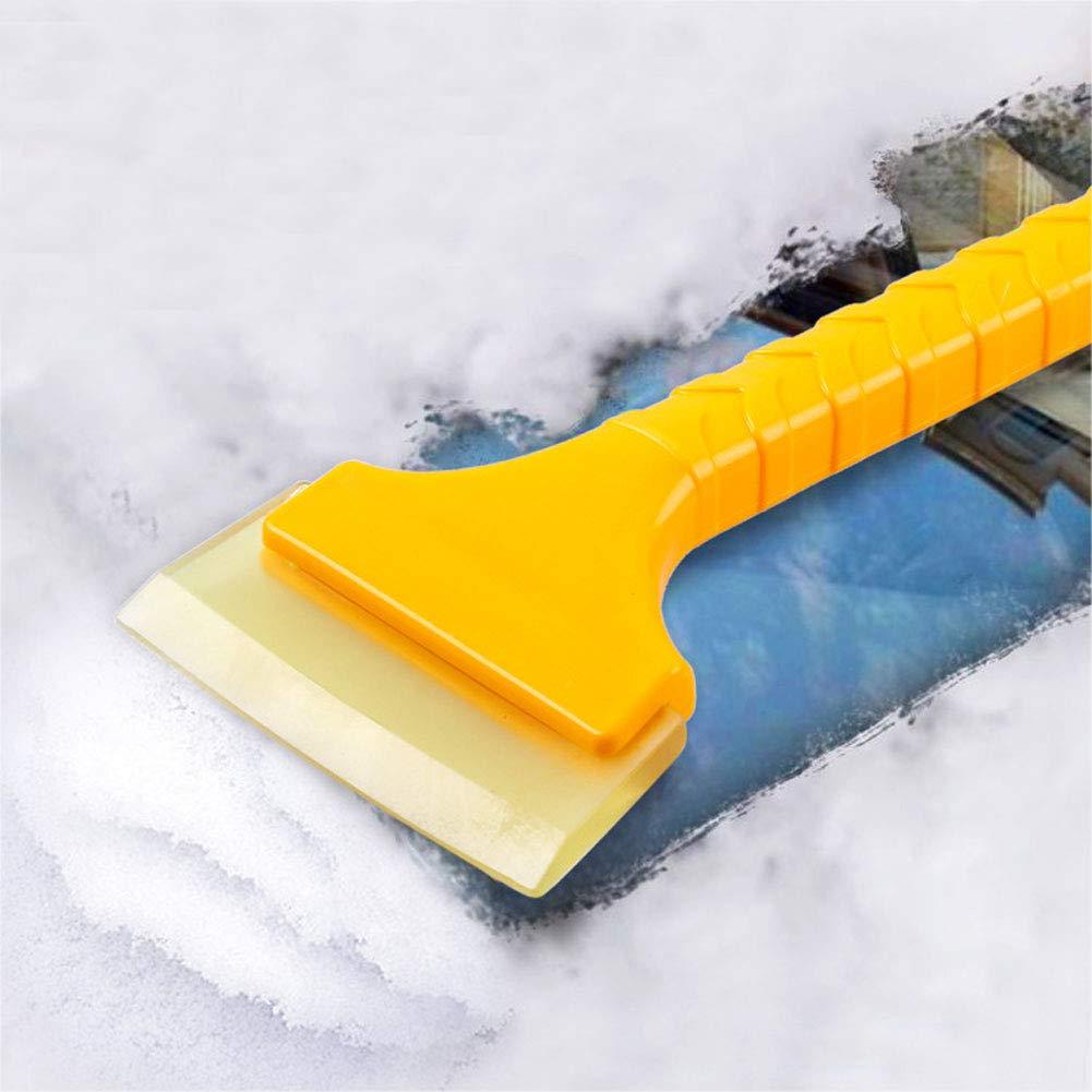 Pala de nieve port/átil de pl/ástico para coche rascador de hielo herramienta de limpieza