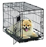 Dog Crate | MidWest Life Stages XS Folding Metal Dog Crate | Divider...