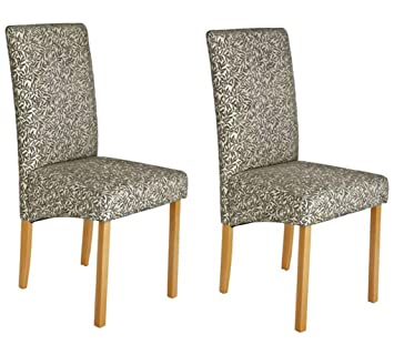 Outstanding Pair Of Fabric Skirted Dining Chairs Floral Amazon Co Uk Ibusinesslaw Wood Chair Design Ideas Ibusinesslaworg