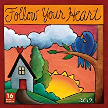 2019 Follow Your Heart 16-Month Wall Calendar: by Sellers Publishing, 12x12 (CA-0389)