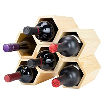 Amazoncom Atterstone Customizable Honeycomb Wine Rack Wall