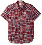 Lucky Brand Men's Patwork Western Shirt, Red/Multi, X-Large