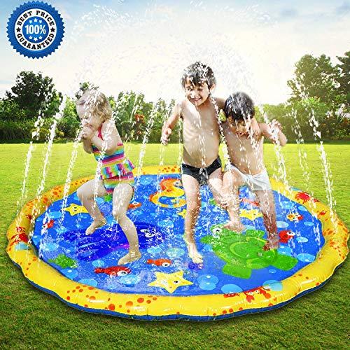 Blue Jasonwell Sprinkle /& Splash Play Mat 68 Water Toys Fun for Children Toddlers Boys Girls Kids Outdoor Party Sprinkler Splash Pad