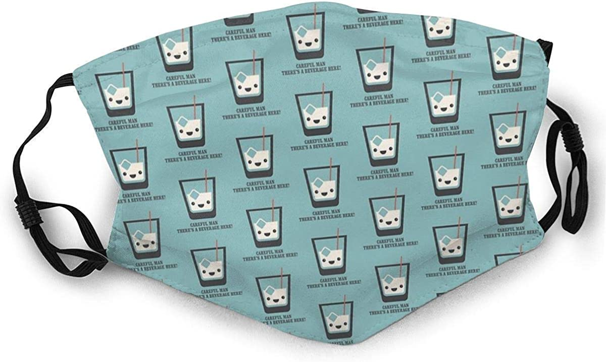 Dust Masks Full Face Mask The Big Lebowski White Russian Careful Man, There'S A Beverage Here! Socks Dust-Proof Sunscreen Turban Mask Headdress Face Masks With Two Replaceable Filters