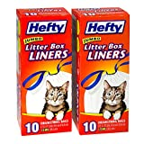 20ct Hefty Jumbo Litter Box Liners with Drawstrings Bags Cats Thick XL Large