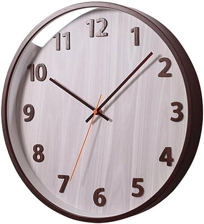 Relojes de pared FJH Personalidad Creativa Reloj de Madera de la Oficina Dormitorio Escalera Pasillo Cocina 35 Cm: Amazon.es: Hogar
