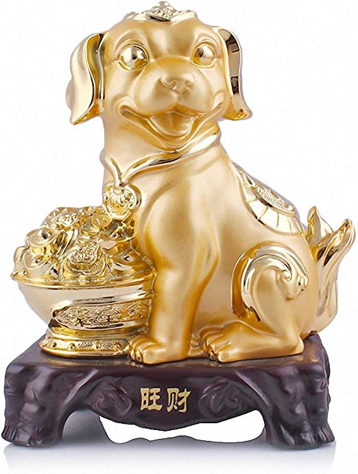 Chinese Golden Dog Statue for Year of the Dog