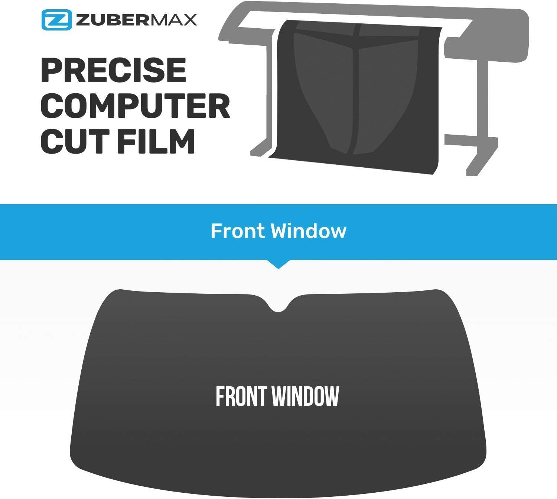 ZUBER Front Window Tint - Professional Ceramic Windshield - Precut Window Tint for Cars Trucks, SUV, Van, Blocks UV - Sun Protection Film 5%, 25%, 35%, and 50% Tint