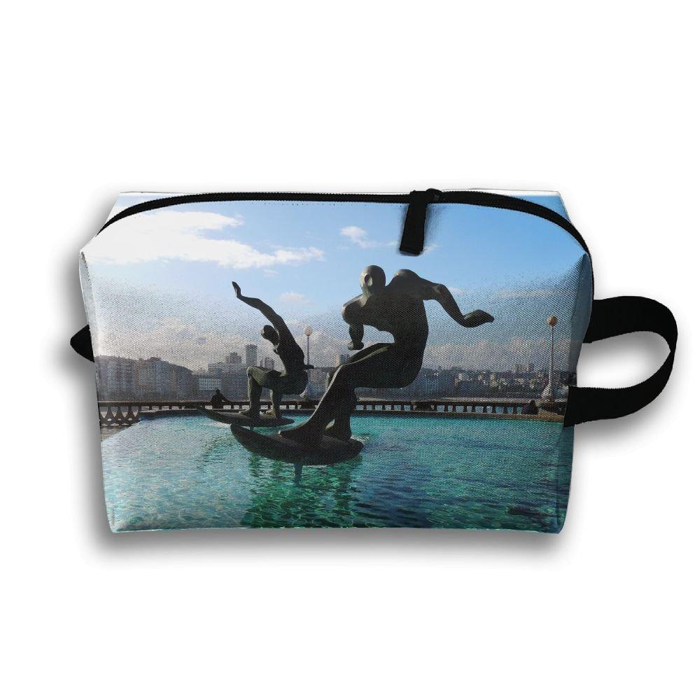 pengyongプールサーフStatue Small Travel Toiletry Bagスーパーライトトイレタリーオーガナイザー一泊旅行用バッグ B07C2BJZCV