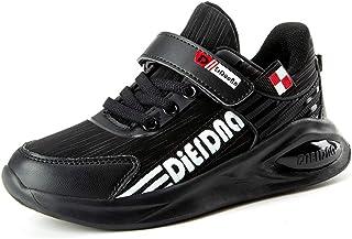 Scarpe Sportive da Corsa per Bambini con Velcro Ragazzi Ragazze Calzature Sportive con Fondo Morbido Antiscivolo Studenti Scarpe da Trekking Casuali