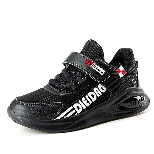 74331e50afff9 Zapatillas Deportivas para niños con Velcro Niños Chicas Zapatillas  Antideslizantes de Fondo Suave para Estudiantes Calzado Casual para  Caminatas  ...
