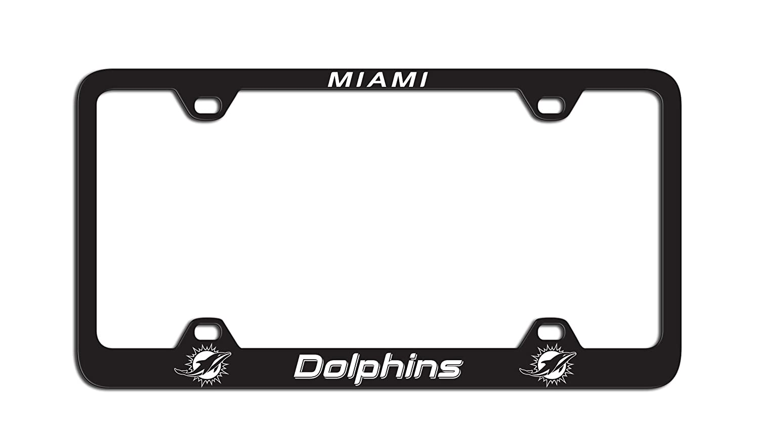NFL Miami Dolphins Laser License Plate Frame Team Color