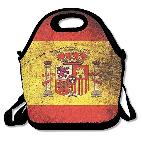 Spain Flag Retro Lunch Box Bags Lunch Tote Lunch Holder With Adjustable Strap For Kids And Adults For School Picnic Office Travel Outdoor School by matthewwei