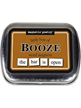 Magnetic Poetry - Little Box of Booze Kit - Words for Refrigerator - Write Poems and Letters on the Fridge - Made in the USA
