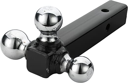 "Neiko 20037A Triple Ball Mount Trailer Hitch, Hollow Shaft Steel Construction | 1-7/8"", 2"" and 2-5/16 Inch Chrome Plated Balls - 7500 LB Capacity"