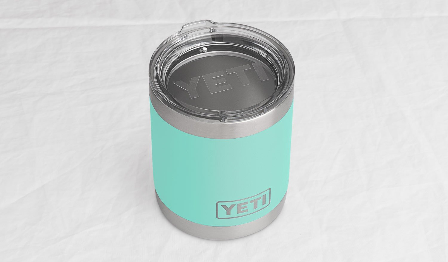 YETI Rambler 10oz Vacuum Insulated Stainless Steel Lowball with Lid, Seafoam DuraCoat by YETI (Image #4)