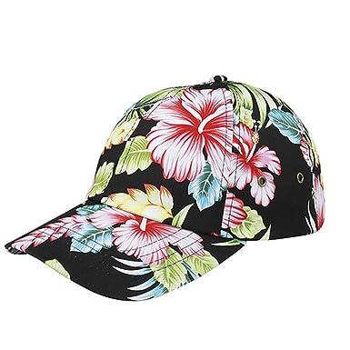 b855b53c1 Corona Collection Hibiscus Floral Print Low Profile Baseball Cap Black at  Amazon Women's Clothing store: