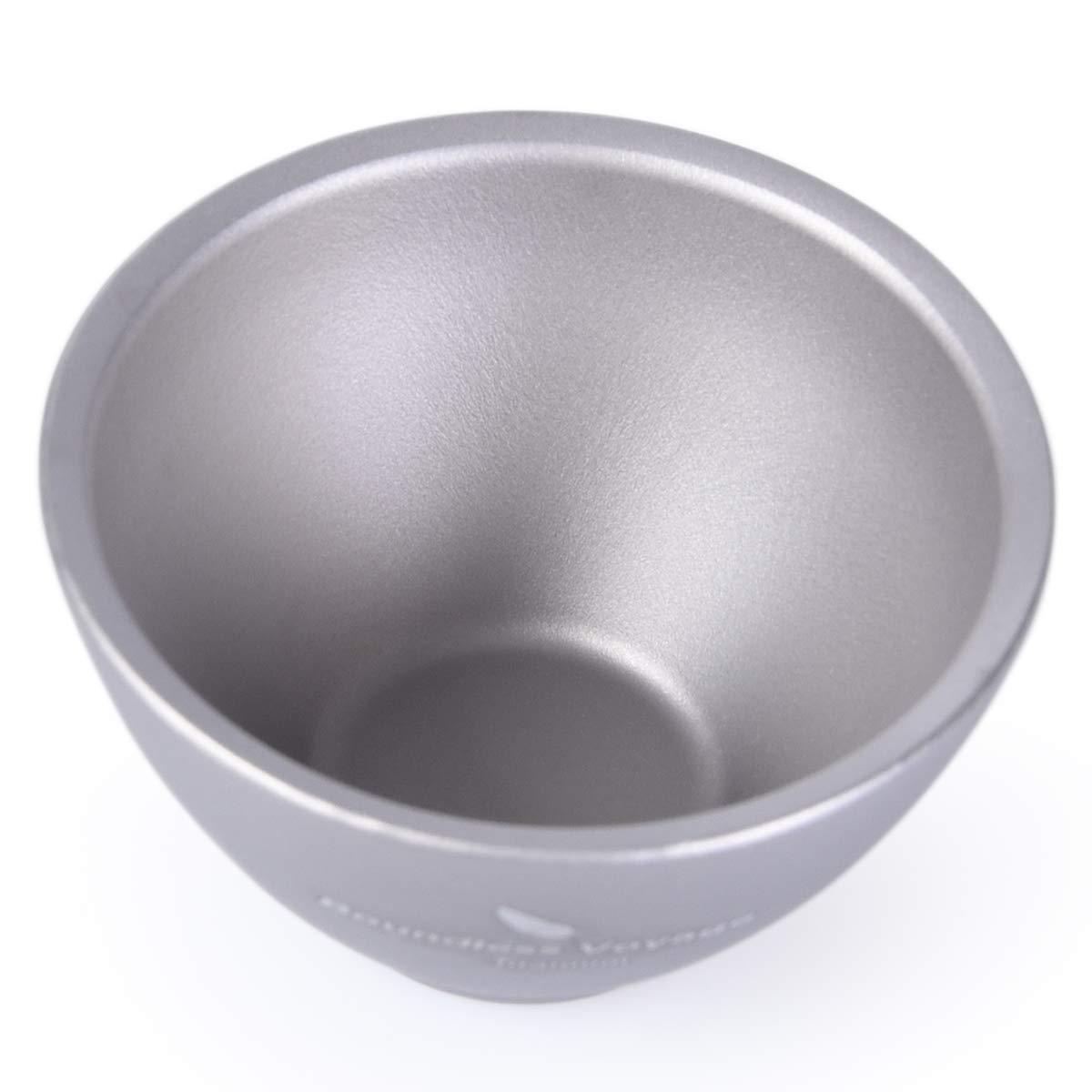 iBasingo Titanium Wine Tea Sake Cup Mug Outdoor Camping Hiking Picnic Whiskey Flask Flagon Drink(3 pieces) by iBasingo (Image #3)
