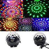 Gbell DJ LED Ball Projector Stage Effect Club Disco KTV Party Bar RGB Crystal Light (Black)