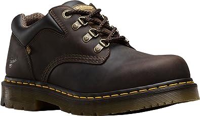 Dr. Martens Men's Hylow Static Dissipation 4 Tie Shoes, Black, Rubber, 10