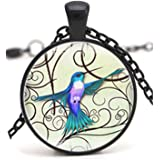 Hummingbird Necklace Vintage Chain Choker Statement Necklace Jewelry Gifts for Women