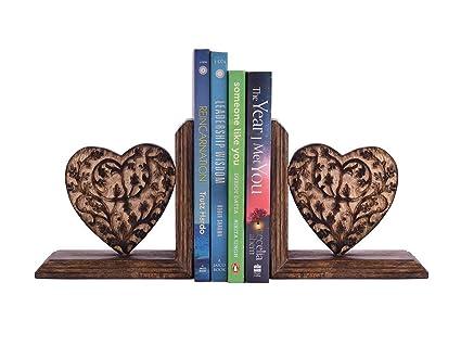 Amazon Com Storeindya Wooden Book Ends Cd Dvd Stand Rack Shelf
