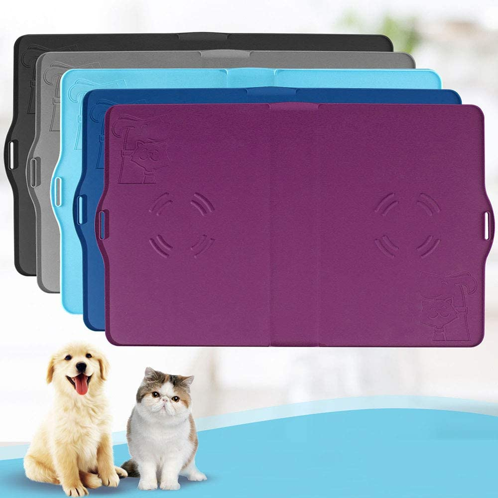 IMPAWFAN Silicone Pet Feeding Mat for Dogs and Cats, 23